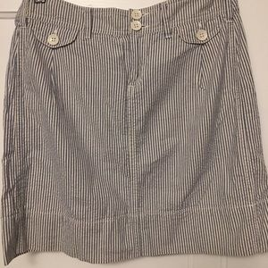 Anthropologie Paper Boy Blue seersucker skirt sz 2